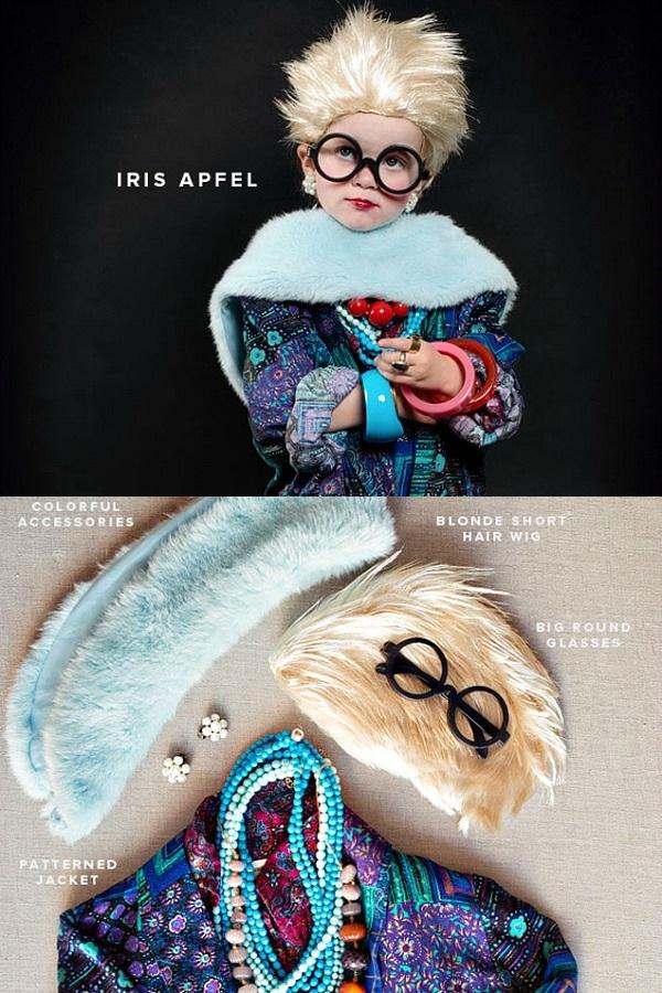 06 Mala Iris Apfel + kostim Deca u kostimima modnih stručnjaka za Noć veštica