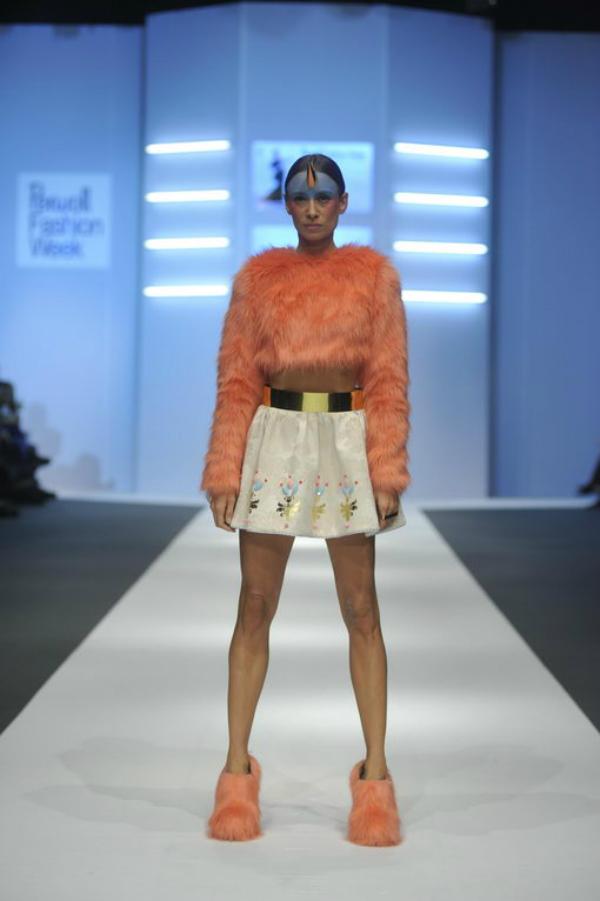 Ana Ljubinkovic narandzasto1 34. Perwoll Fashion Week: Ana Ljubinković