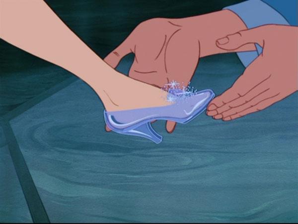 Cinderella glass slippers Ego mi ga skroji, nane