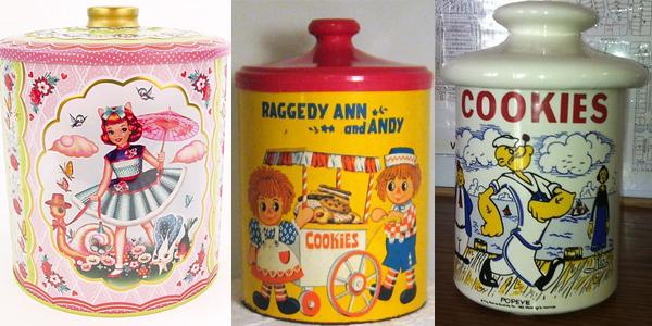 Cinije sa devojcicom decom i popajem Retro posude za čuvanje slatkiša