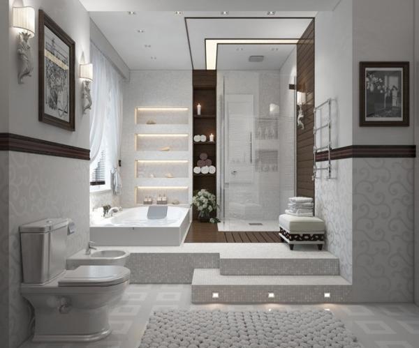 Contemporary bathroom in white 700x582 Dizajnerska remek dela: Kupatilo i(li) spa