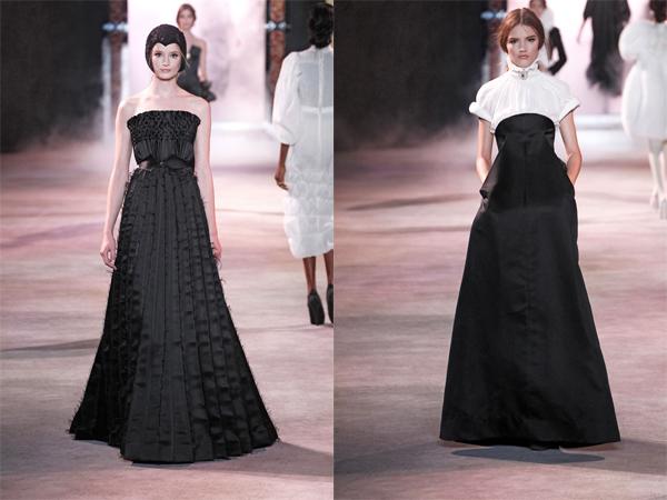 Crne haljine istaknutog strukaslika1 Jesen na modnim pistama: Ulyana Sergeenko