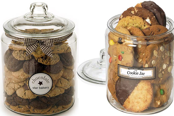 Dve staklene tegle Retro posude za čuvanje slatkiša