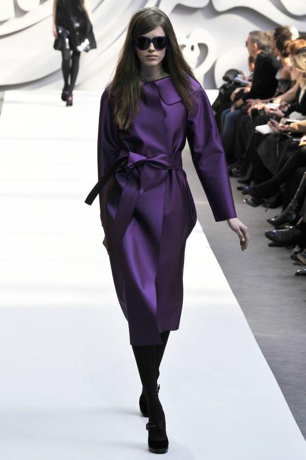 Ljubicasto Modne nedoumice: Haljina ili kaput?
