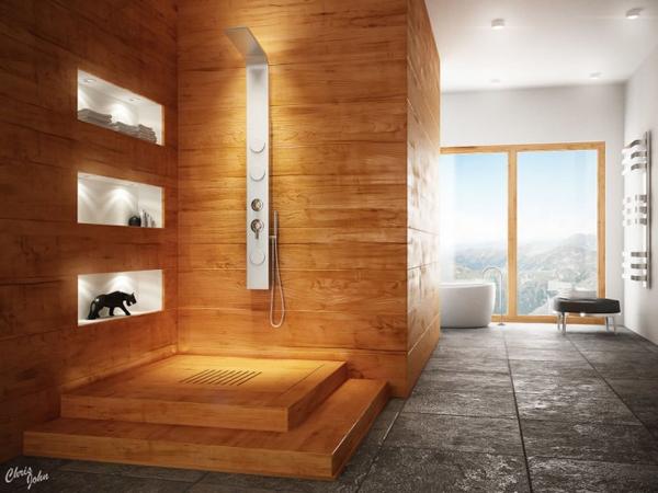 Modern bathroom with natural elements 700x525 Dizajnerska remek dela: Kupatilo i(li) spa