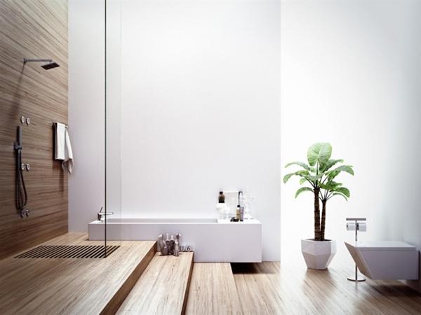 Modern bathroom with wood elements 700x525 Dizajnerska remek dela: Kupatilo i(li) spa