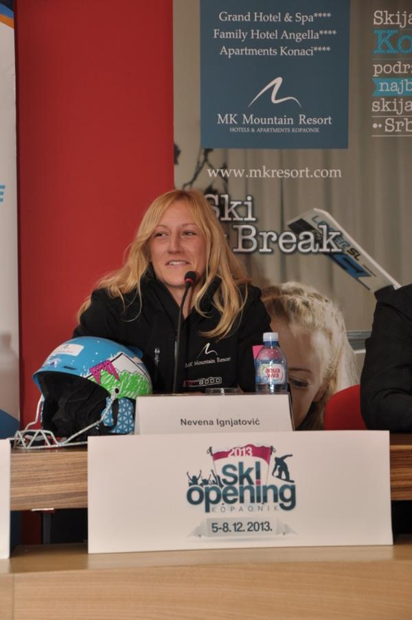 Nevena Ignjatovic Najbolja skijasica Srbije 9 oktobar 2013 Kopanik spreman za ski sezonu