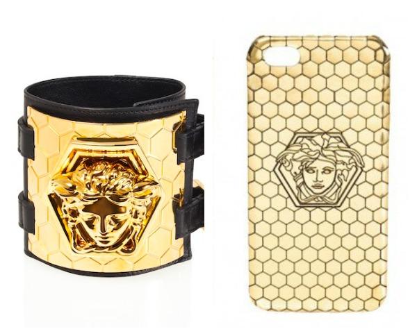 Samo neki od zlatnih detalja   narukvica i maska za Iphone Modni zalogaj: Zlatna kolekcija iz saradnje brenda Versace i braće Haas