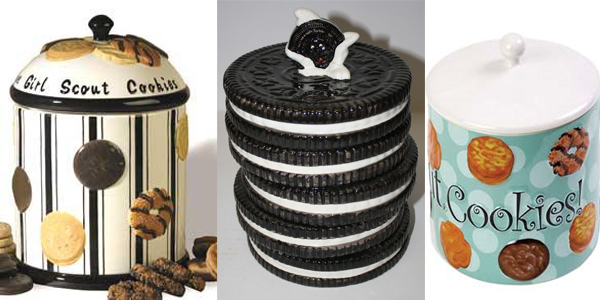 Tri cinije sa simbolima kolaca Retro posude za čuvanje slatkiša