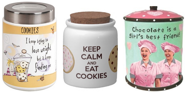 Tri tegle sa natpisima Retro posude za čuvanje slatkiša