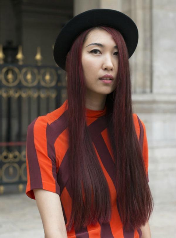 boja burgundija Beauty Street Style: Jesenji trendovi