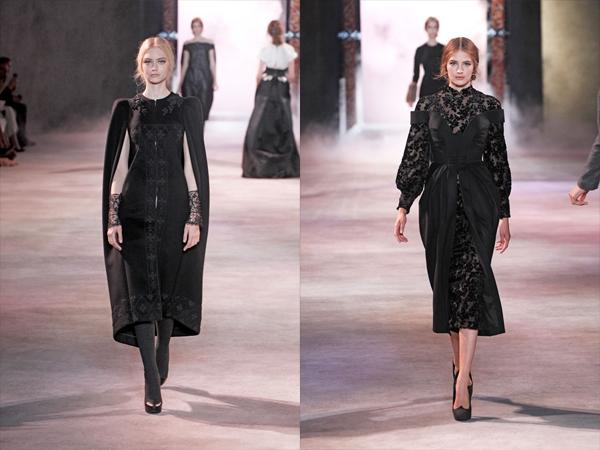 crna haljina sa vezom i crna haljina sa cipkomslika4 Jesen na modnim pistama: Ulyana Sergeenko