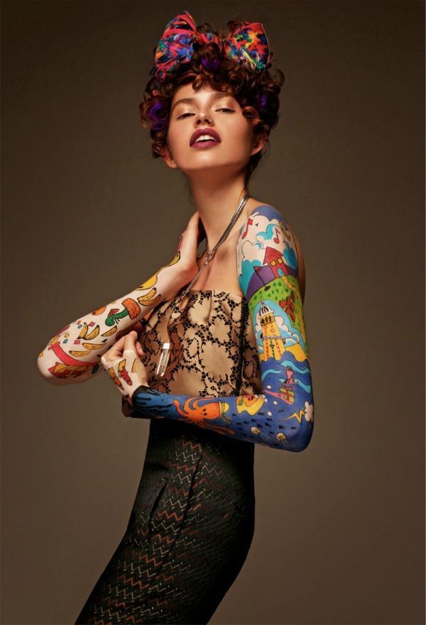fazon mašna Jenny Kee Black Magazine: Gabby Dover kao modno platno