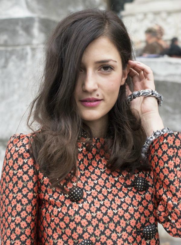 kosa preko oka Beauty Street Style: Jesenji trendovi