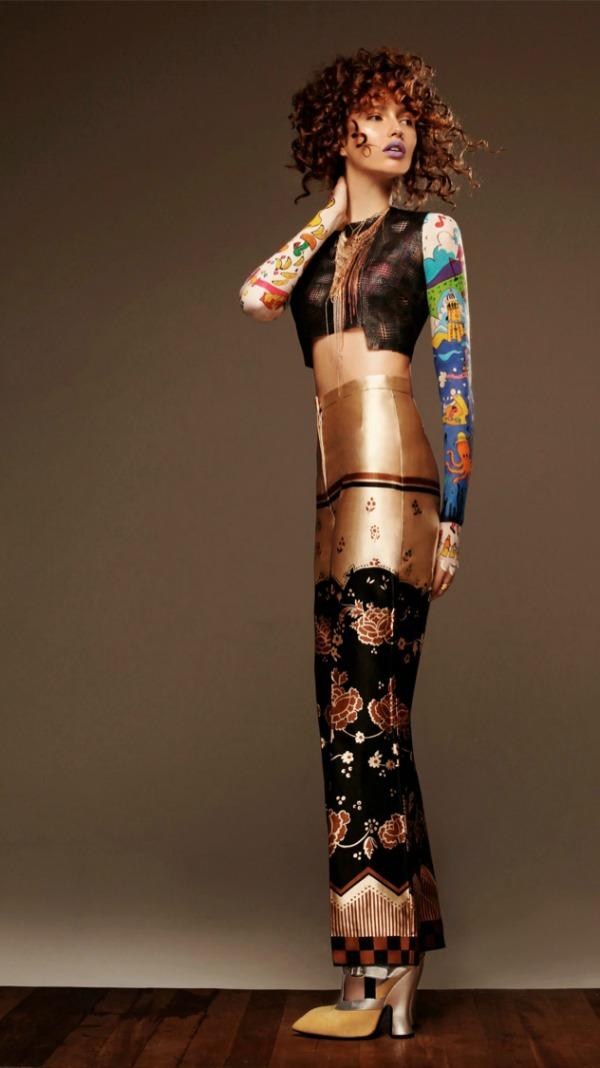 modni antikviteti Black Magazine: Gabby Dover kao modno platno
