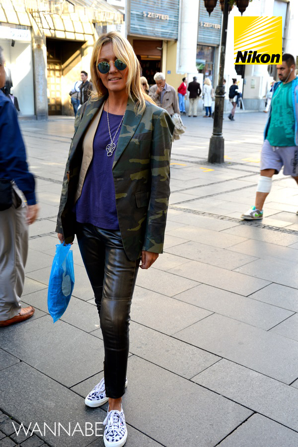 nikon JA SAM NIKON STREET STYLE: Odvažnost nosi kožne helanke