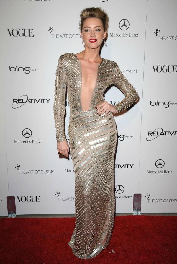 Amber Heard 7 One to nose ovako: Metalik