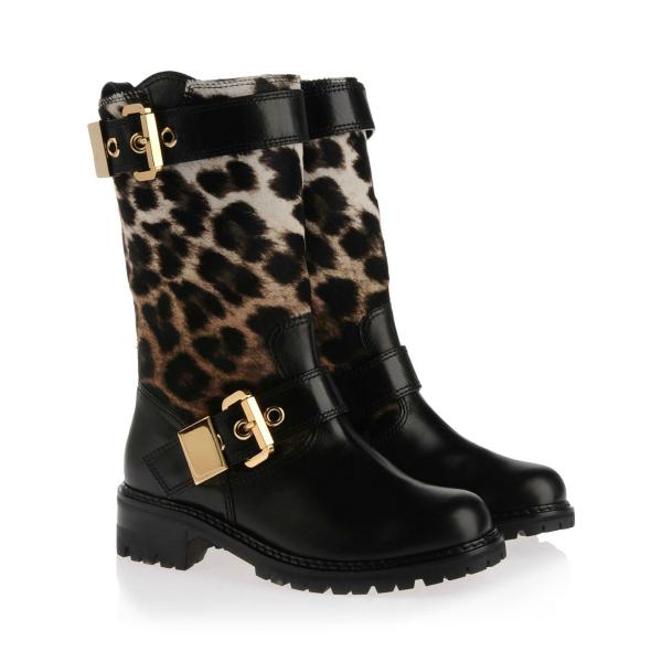 Bajker leopard Guiseppe Zanotti: Popularne kratke čizme