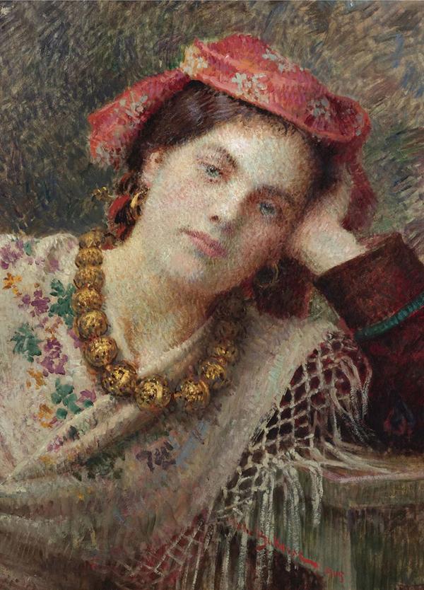 Bukovac Sanjarenje 1905 Od crtača slova do slikarskog Olimpa