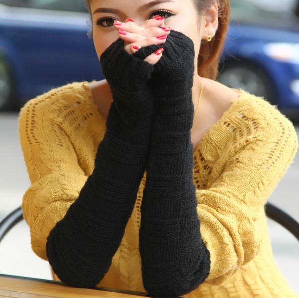 Crne duge Trendi rukavice