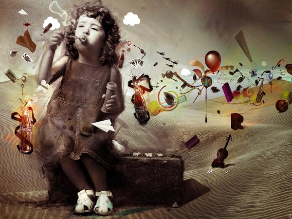 Devojcica duva razne predmete umesto balona Sve što niste znali o kreativnosti