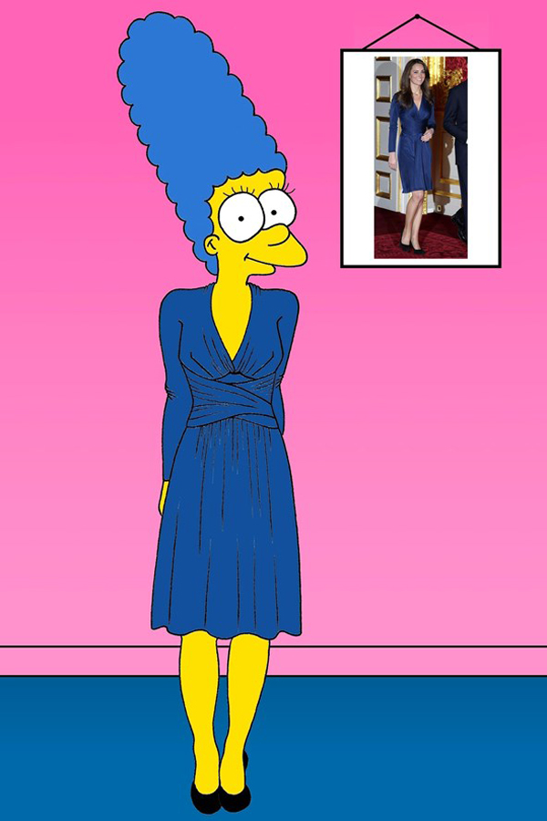 Kate Middleton vogue 19nov13 aleXsandro Palombo b 592x888 Nova modna ikona: Marge Simpson