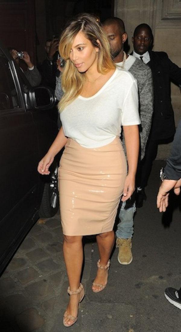Kim Kardashian Dinner Date with Kanye West in Paris 19 492x900 Kim Kardashian u svojoj novoj stilskoj fazi zvanoj Kanye