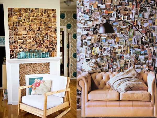 Kolaz iznad fotelje i dvoseda Neodoljivi ukras vašeg doma: Fotografije