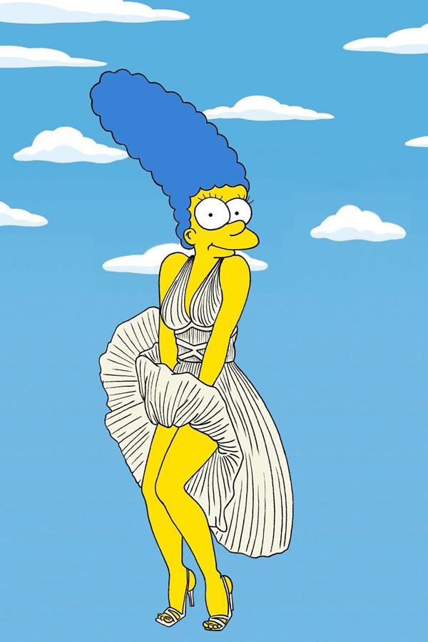 Marilyn Monroe vogue 19nov13 aleXsandro Palombo b Nova modna ikona: Marge Simpson