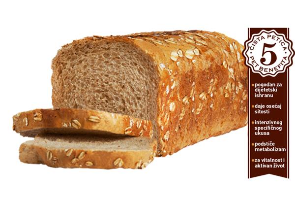 Mešano raženi hleb Svakog dana parče ražanog ili integralnog hleba