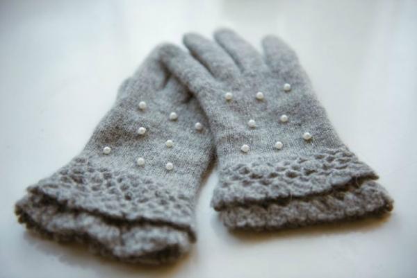 Sive biseri Trendi rukavice
