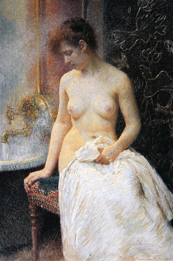 Vlaho Bukovac U kupatilu 1908 Nage lepotice slavile su Vlaha Bukovca
