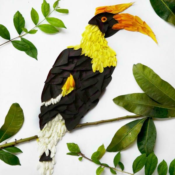 kljunorošac Ptice od latica cveća