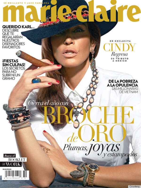 "o CINDY CRAWFORD 570 Cindy Crawford na naslovnici magazina ""Marie Claire Mexico"""