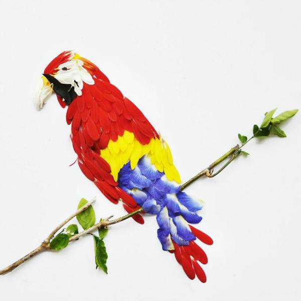 papagaj Ptice od latica cveća
