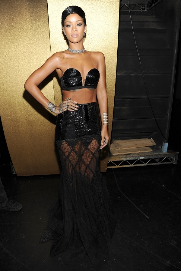 rihanna Fashion Police: American Music Awards 2013.