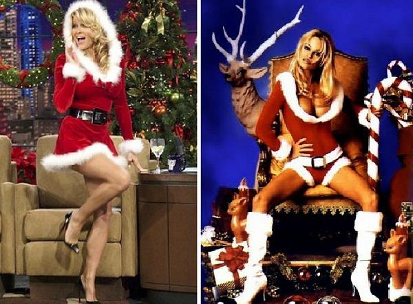 02 Pamela Anderson Kostim Deda Mraz Poznate ličnosti u zavodljivim kostimima Deda Mraza