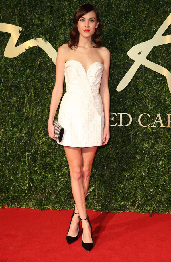 Alexa Chung attends the British Fashion Awards 2877003 Fashion Police: British Fashion Awards 2013
