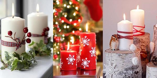 Crveno bele svece  Praznični ambijent: Najlepše dekoracije sa svećama