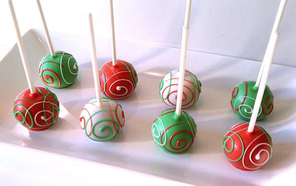 Crveno zeleni kolacici Inspirativne praznične đakonije: Cake pops