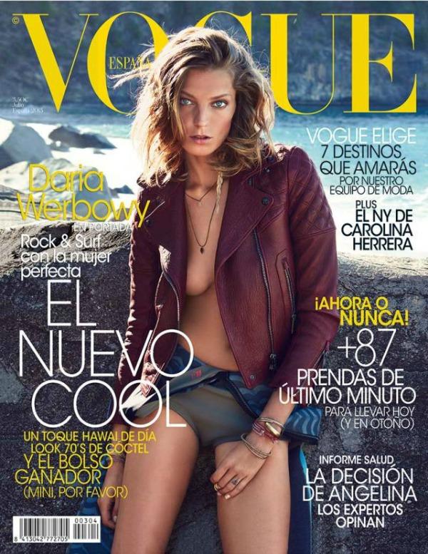 """Darija Verbovi za španski """"Vogue"""" Godina kroz naslovnice: Vogue"""