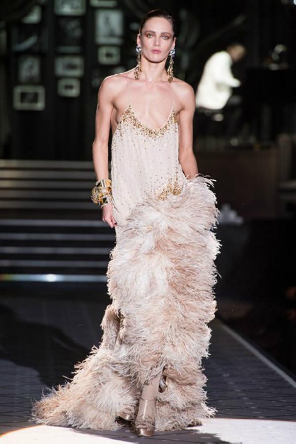 Dsquared2 haljina Sa krilima od perja u avanturu želja