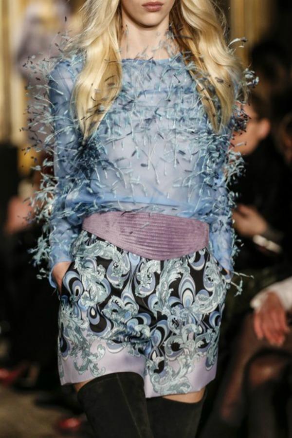 Emilio Pucci dekor Sa krilima od perja u avanturu želja