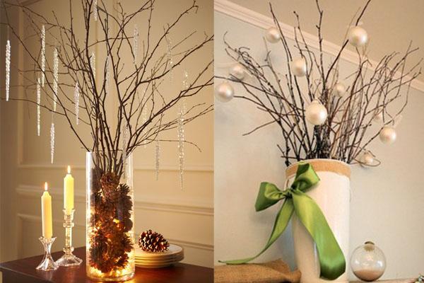 Grancice u vazi Novogodišnje drvce u malom prostoru