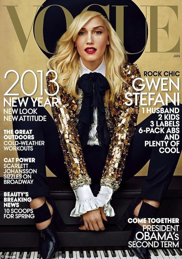 Gwen Stefani Covers Vogue USA January 2013 Godina kroz naslovnice: Vogue