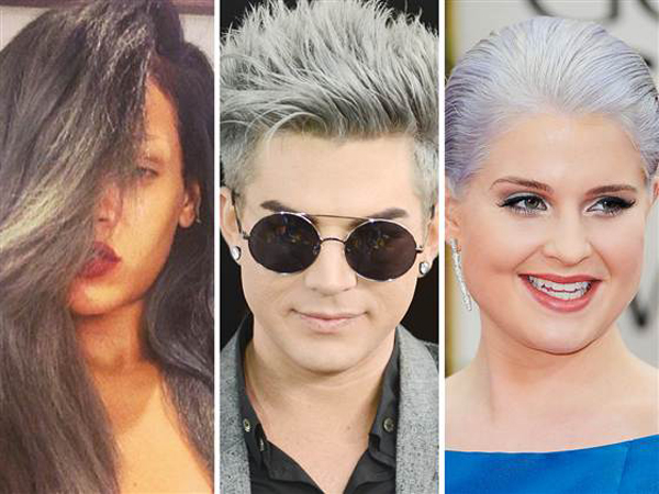Hair raising trend Young celebs continue to go gray Beauty trend: Paučina u kosi