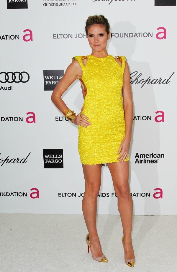 Heidi Klum 2 Trend sa crvenog tepiha: Žute haljine