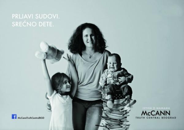 """Istraživanje""""Istine o novoj srpskoj mami"""" 20sudovi """"McCann Truth Central Beograd"""" predstavio istraživanje o savremenoj srpskoj majci"""