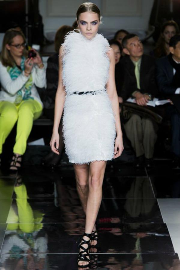 Jason Wu haljina Sa krilima od perja u avanturu želja