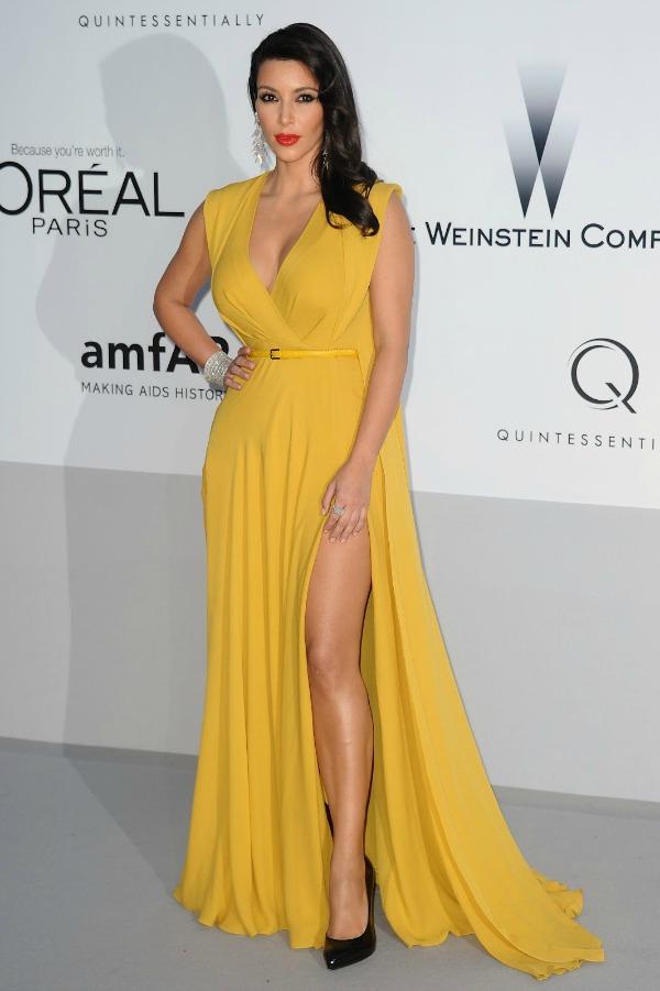 Kim Kardashian 6 Trend sa crvenog tepiha: Žute haljine